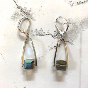 Jewelry - Sterling Silver Iridescent drop earrings